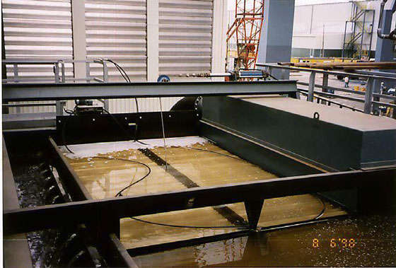 Ölskimmer im Stahlwerk